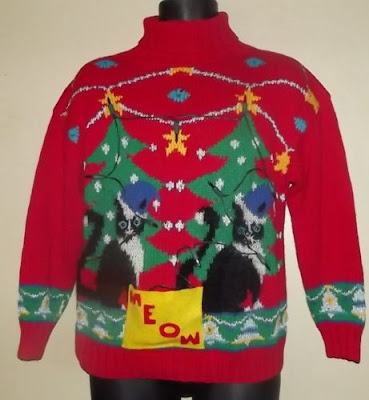 Catsparella The 6 Ugliest Cat Christmas Sweaters Of 2011