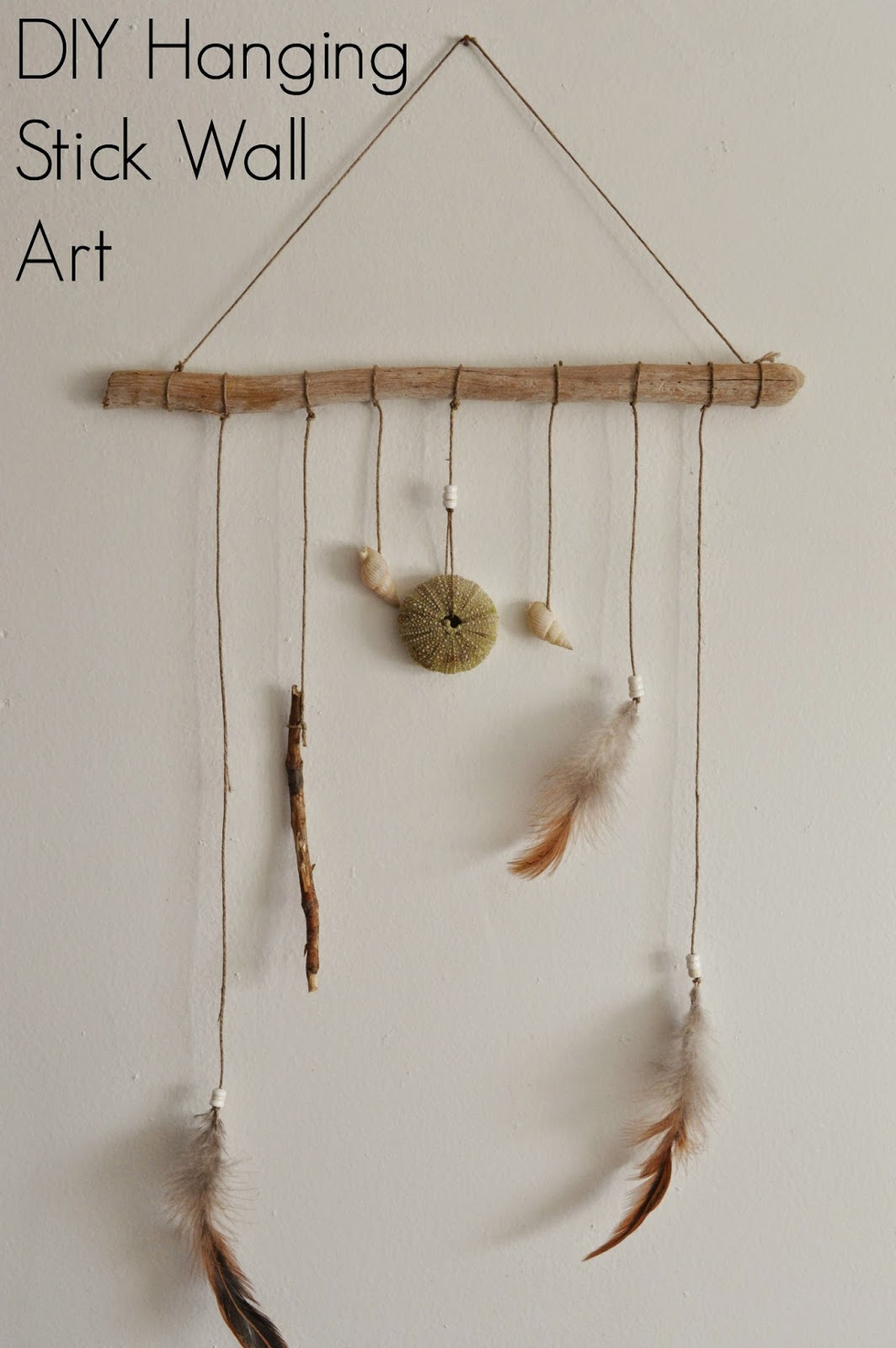 By Woods and Water: DIY Hanging Stick Wall Art