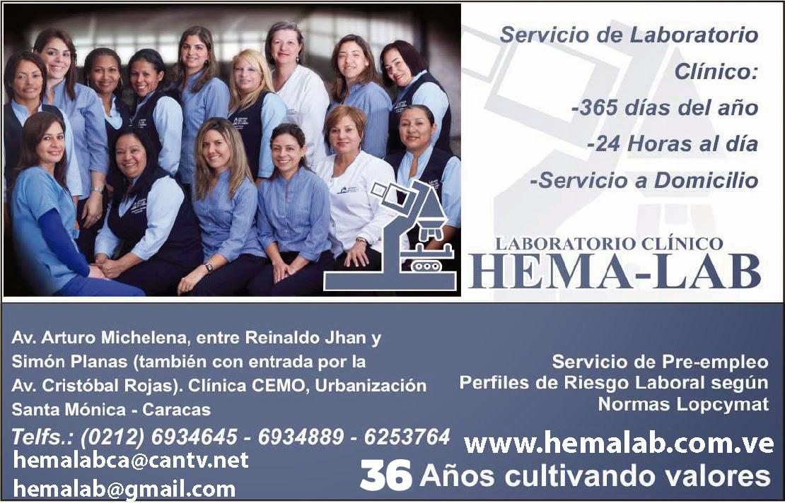LABORATORIO CL�NICO HEMALAB en Paginas Amarillas tu guia Comercial
