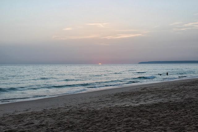 Puesta de sol en las playas de Tarifa