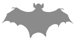 bat halloween digital silhousette grayscale digital clipart