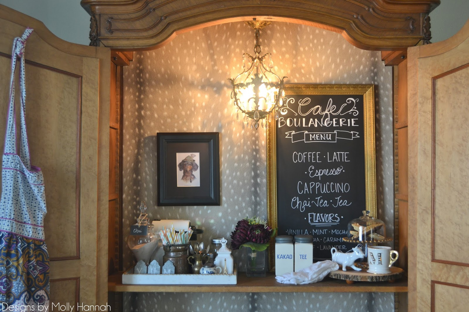 the poor sophisticate Espresso Bar Armoire Part 3 Installing a – Installing a Chandelier