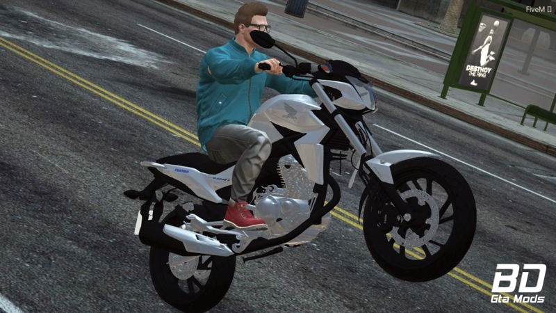Download mod moto Honda CB Twisrer 250 2016 para GTA 5