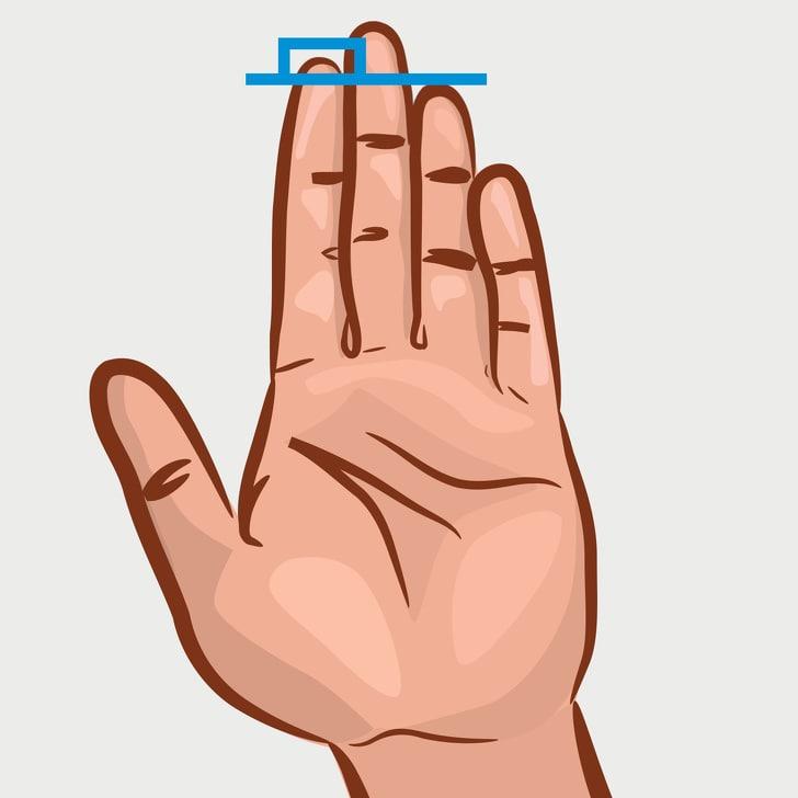 Jari telunjuk lebih panjang dari jari manis