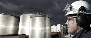 Fuel tanks at refinery