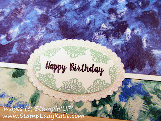 Card made with Stampin'UP!'s Piece of Cake Stamp set by StampLadyKatie