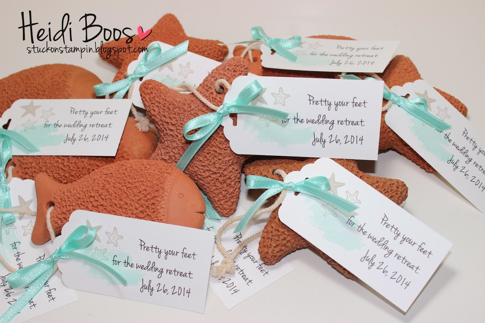 stuck on stampin beach themed favor tags