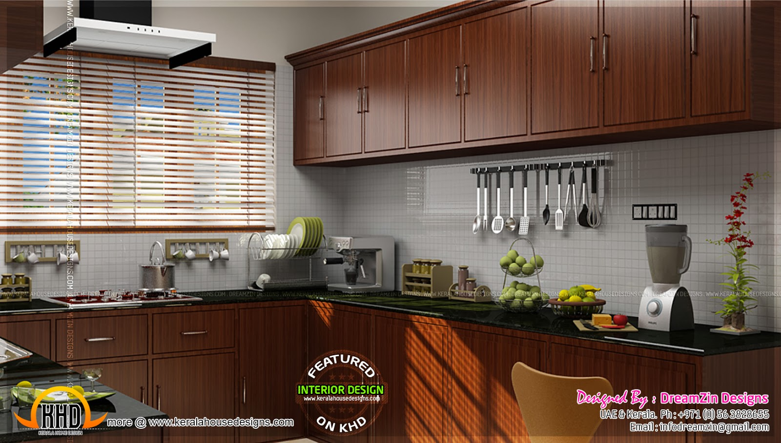 Kitchen interior dining area design kerala home design for Kitchen design kerala