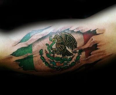 Tatuaje bandera de Mexico