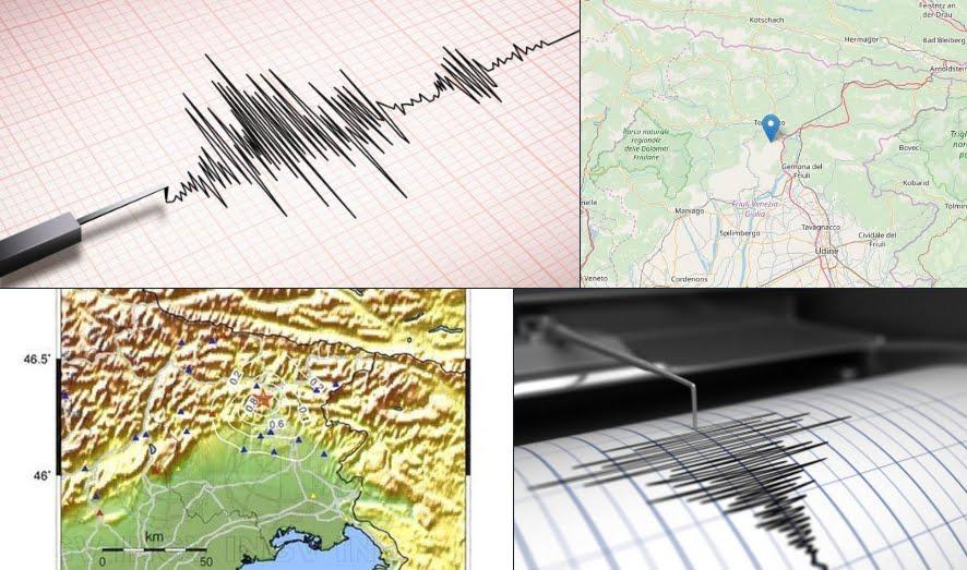 I terremoti in provincia di Udine di oggi 11 agosto 2018, l'analisi di INGV