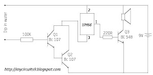 circuit diagram simple touch sensitive security alarm