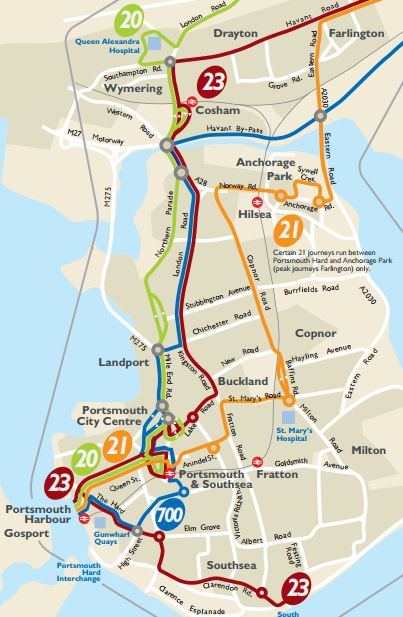 Portsmouth Bus Routes Map Southampton Bus Update: 2017