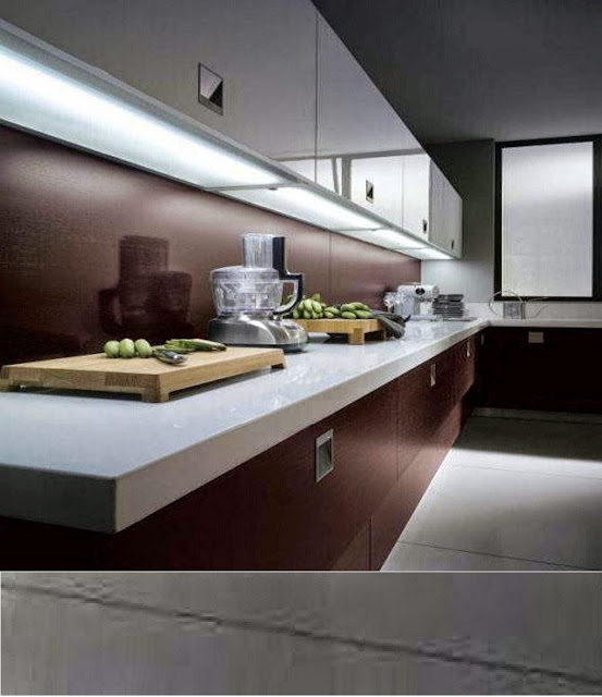 Modern kitchen under cabinet lighting installing led lights strips