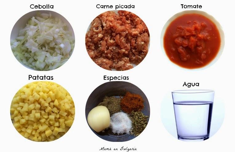 Ingredientes receta musaká búlgara
