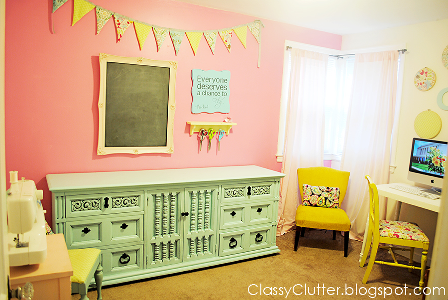My Craft Room Reveal Classy Clutter