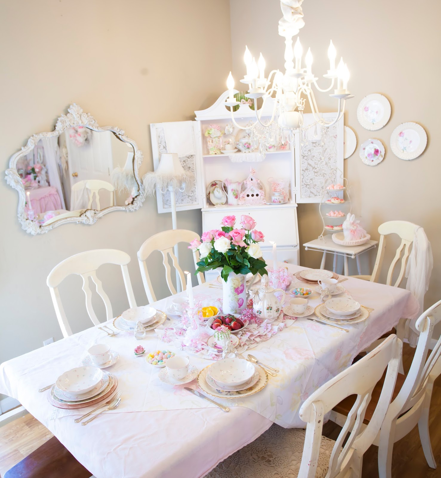 Olivia's Romantic Home: Cottage Chic Dining Room