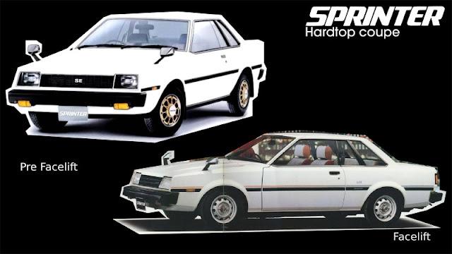 Jenis-Jenis Toyota Sprinter hardtop