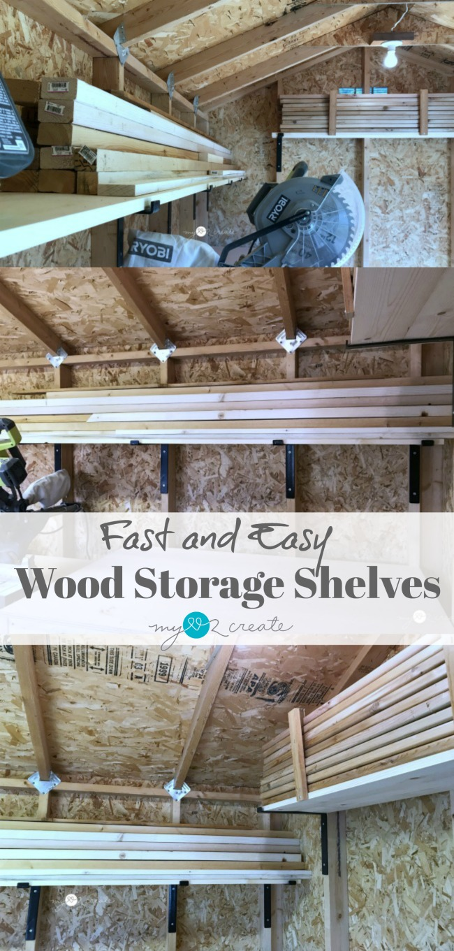 These are the best and easiest shelves for storing wood in your workshop!