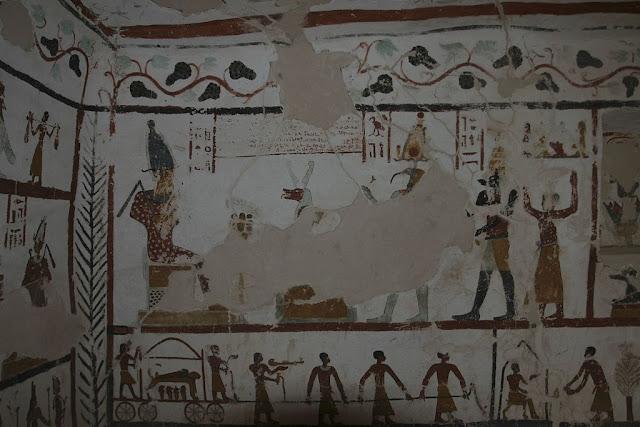 Paintings from the tomb of Sadosiris at Muzawaka (IV)