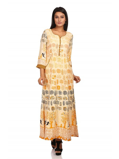 Ivory Flared Viscose Dress