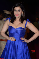 Mannara Chopra in Deep Neck Blue Gown at Zee Telugu Apsara Awards ~  Exclusive 010.jpg