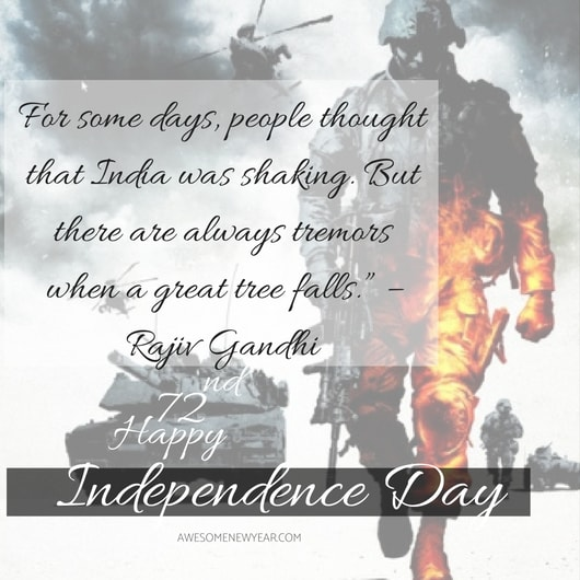 independence day India quotes 2018