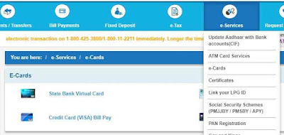 SBI Netlfix E Sevices Virtual Card
