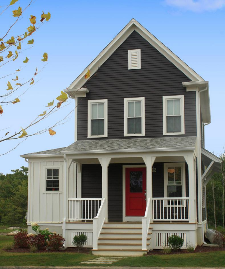 Exterior Siding Design: Delorme Designs: FAVOURITE REDS-RED DOOR