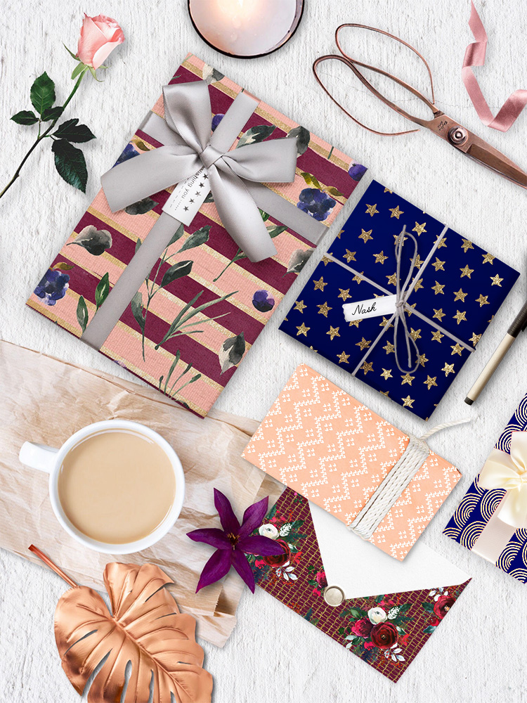 Free Festive Giftwrap Papers by Craft A Doodle Doo #free #giftwrap #papers #Printables #party #winter #celebrate #gifts #patterns