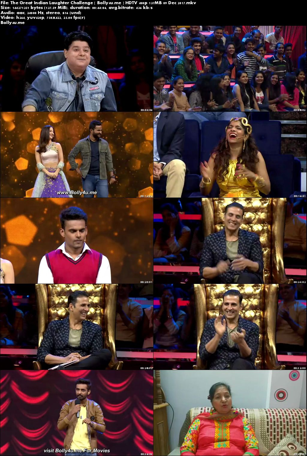 The Great Indian Laughter Challenge HDTV 480p 140MB 09 Dec 2017 Download