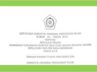 Juknis Pemberian Tunjangan Insentif Guru Madrasah Non PNS Tahun 2018