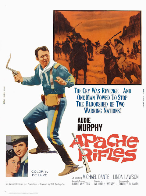 "AUDIE MURPHY ESTRELA O COMPETENTE ""RIFLES APACHES"" DE FINAL CONSTRANGEDOR"