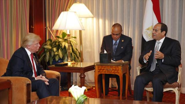 Trump promete a Egipto ayuda militar para combatir el terrorismo