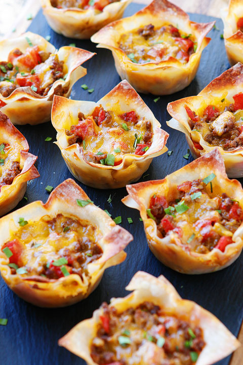 #Recipe : Crunchy Taco Cups