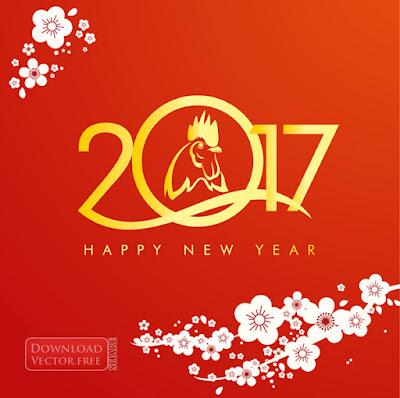 Mừng xuân Đinh Dậu 2017 new year vector 4801