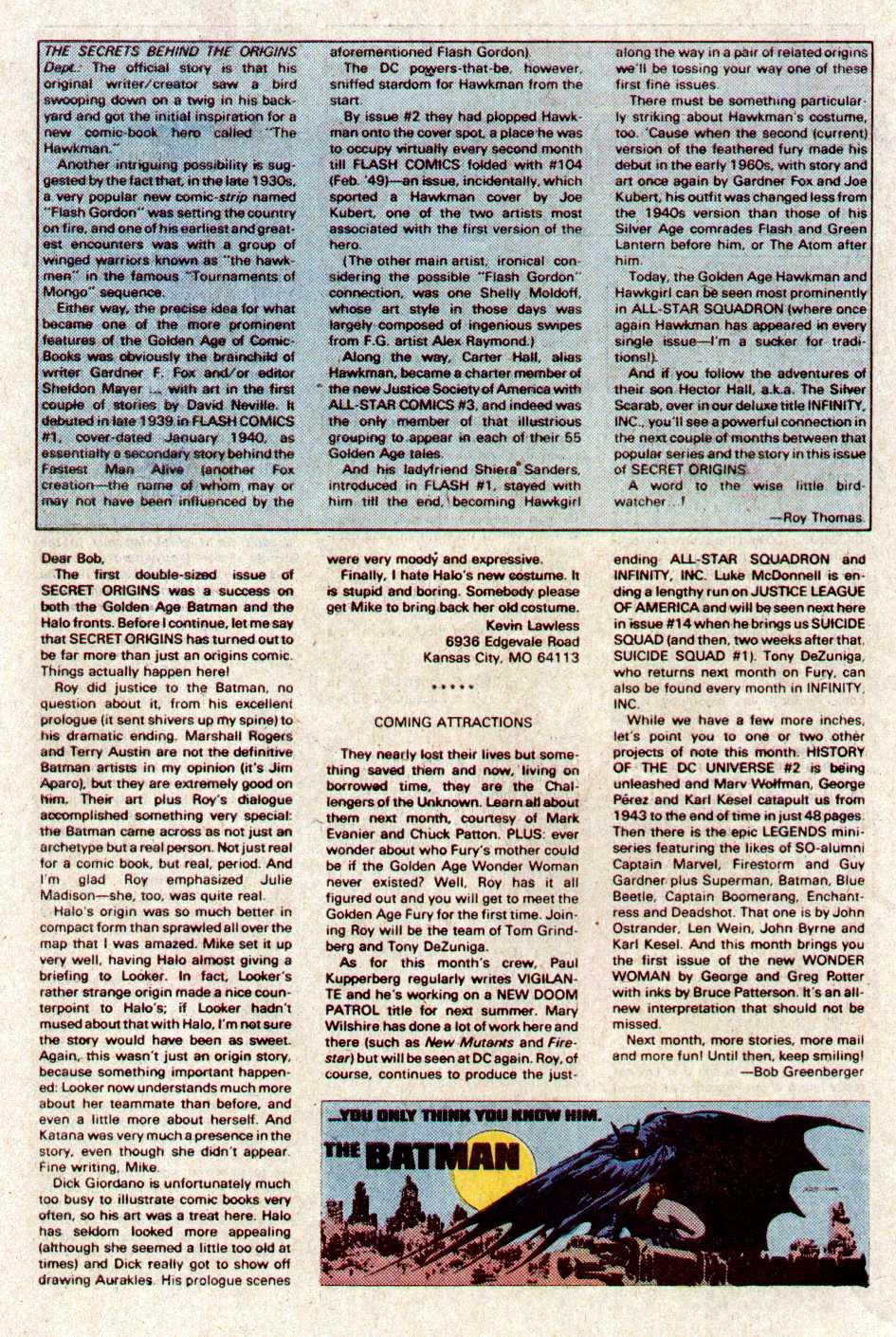 Read online Secret Origins (1986) comic -  Issue #11 - 42