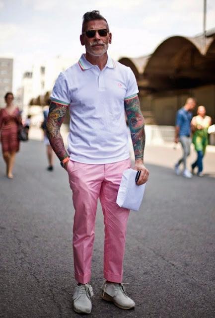 look masculino rosa para o verão 2017 (1)