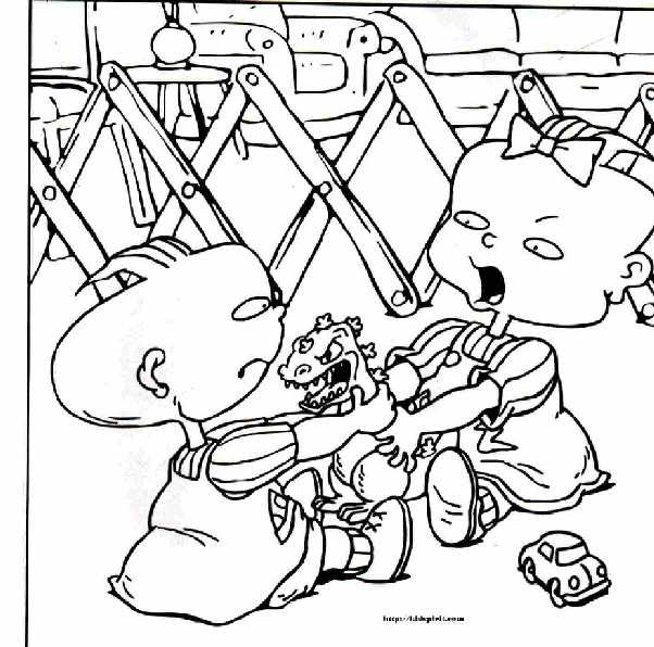 rugrats coloring pages to print - everything rugrats and all grown up free printable
