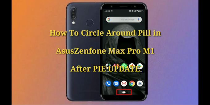 How to remove circle on home button after pie update in Asus Zenfone Max Pro M1 and M2