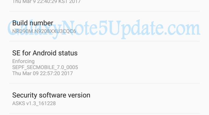 Galaxy Note 5 Dous SM-N9208 Android 7 0 Nougat Updates Now Available