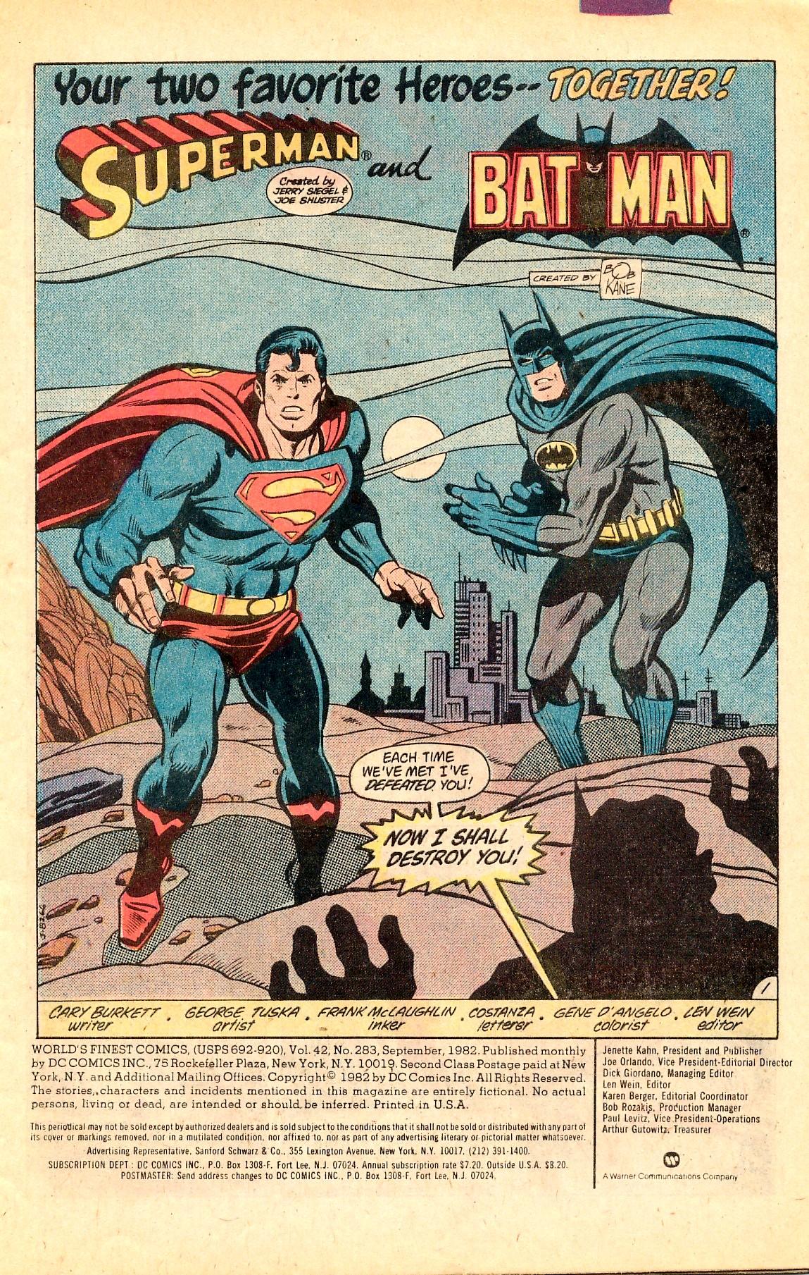 Read online World's Finest Comics comic -  Issue #283 - 3