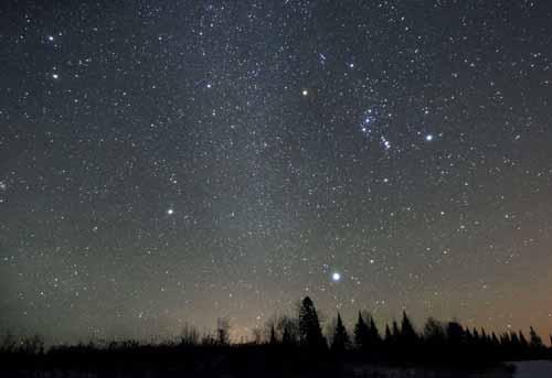 contoh peristiwa pembiasan dan pemantulan cahaya sempurna dalam kehidupan sehari-hari: posisi benda langit (bintang) tidak berada pada posisi yang sebenarnya