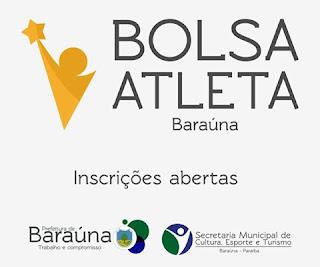 Projeto de incentivo oferecerá bolsas para atletas de Baraúna; inscrições abertas