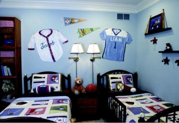30 Desain Kamar Tidur Laki-laki Nuansa Biru