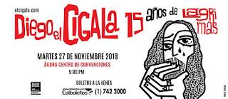 Concierto de DIEGO EL CIGALA en Bogotá 2018