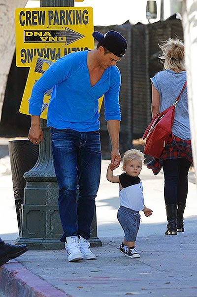 Josh Duhamel and his son Axel