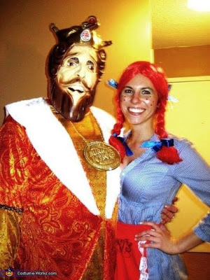 Scary Halloween Costume Ideas For Couples 2016  Burger King Wendy