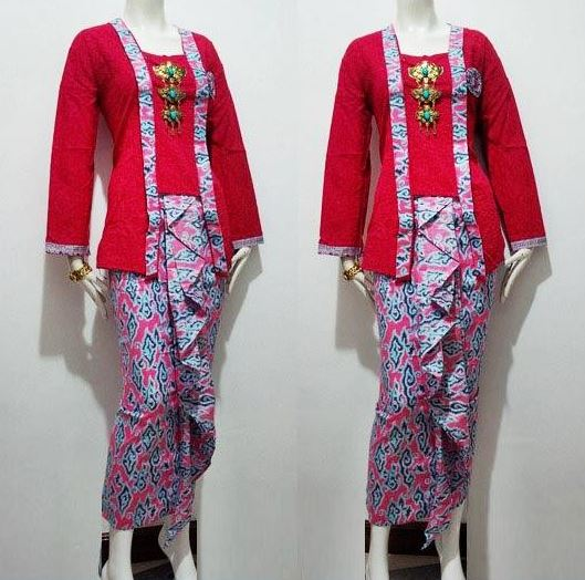 10 Model Baju Batik Sarimbit Modern Terbaru 2018: 10 Model Baju Batik Kombinasi Embos Terbaru 2018