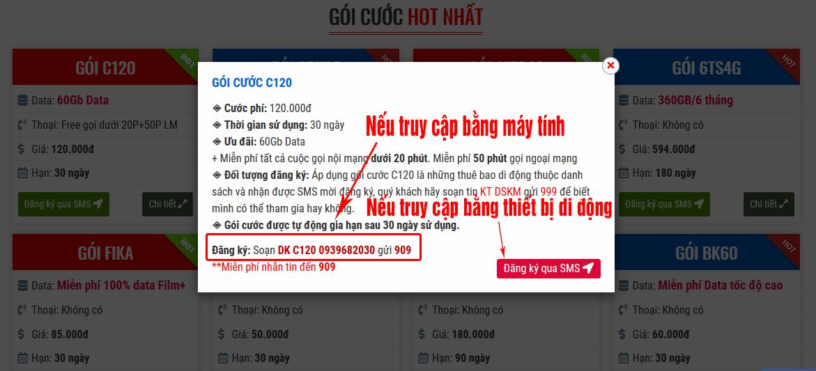Hướng dẫn cách đăng ký gói cước Mobifone nhanh tại Goicuocmobifone.Net