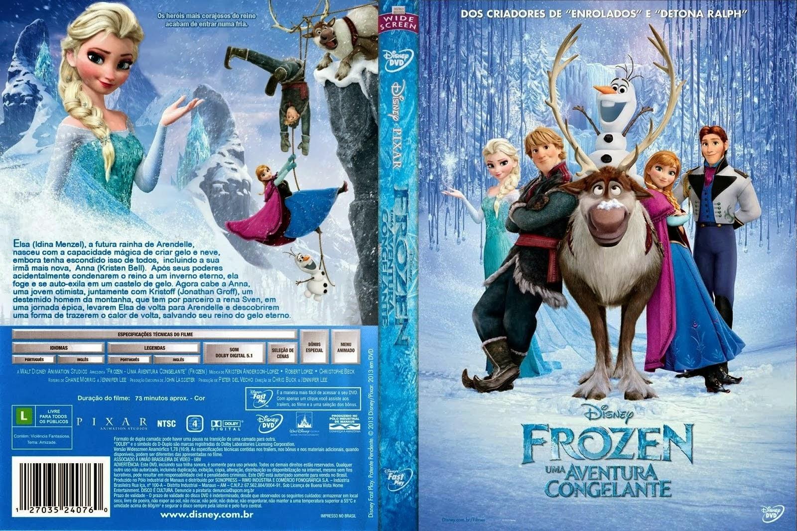 Desenhos Frozen Uma Aventura Congelante Completo